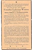 Aarschot, 1945, Cornelius Wouters, Baetens,1845 - Devotieprenten