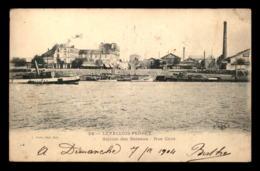 92 - LEVALLOIS-PERRET - LA STATION DES BATEAUX RUE CAVE - REMORQUEUR GUEPE N°24 - Levallois Perret