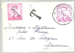 LETTRE 1965  TAXE  MOUSCRON    PETITE LETRE - Lettres & Documents