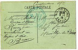 SAVOIE CP 1915 AIX LES BAINS HOPITAL UFF COMITE D'AIX LES BAINS - Marcophilie (Lettres)