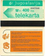 @+ PTT Jugoslavija - 400 Imp - Ref : YU-PTT-0050 - Jugoslawien