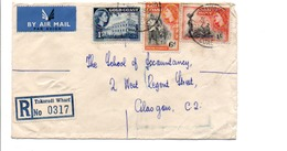 GOLD COAST GB AFFRANCHISSEMENT COMPOSE SUR LETTRE RECOMMANDEE POUR L'ECOSSE 1956 - Costa De Oro (...-1957)
