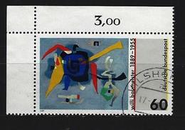 BUND Mi-Nr. 1403 Eckrandstück Links Oben Gestempelt (2) - Usati