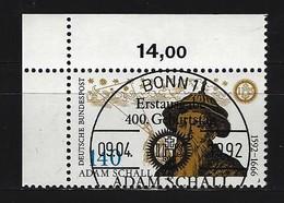 BUND Mi-Nr. 1607 Eckrandstück Links Oben Gestempelt - [7] République Fédérale
