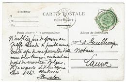 56 S/s Bdl Cur CV De Cuerne Obl Courtrai (Station) Départ - 1893-1907 Wapenschild