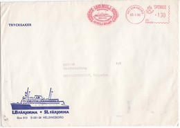 Sweden-14/1980 - Ferryboat, Letter From Helsingsborg To Sofia/Bulgaria, Size: 230x160 Mm - Sweden