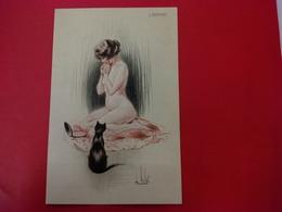 ILLUSTRATEUR VALLET L ENVIE FEMME NU CACHET 101 REGIMENT D ARTILLERIE LOURDE SECTION AUTOMOBILE - Meunier, S.