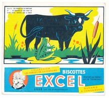 Buvard 15,1 X 13,5 Biscottes EXCEL Lille Série D Les Fables De La Fontaine 27 La Grenouille Qui Veut ... Le Bœuf - Biscottes