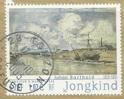 2001 Yt 3429 (o) Honfleur à Marée Basse Aquarelle De Johan Barthold Jongkind - France