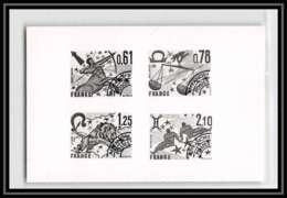2334 153 / 157 Signes Du Zodiaques Preo Preobliteres France Epreuve Photo Maquette Collective Proof Noir Black - Epreuves D'artistes