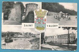 LA COTE D'OPALE - SAINT VALERY SUR SOMME - Vues Diverses - Multivues Blason - Carte Circulé 1959 - Saint Valery Sur Somme