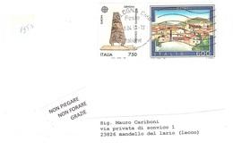 AFFRANCATURA CON £750 EUROPA 1992 - 6. 1946-.. Repubblica