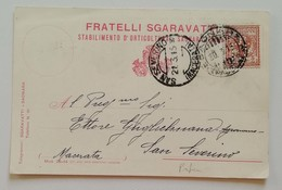 Cartolina Postale Fratelli Sgaravatti Saonara Per San Severino - 20/03/1915 PERFIN - 1900-44 Vittorio Emanuele III