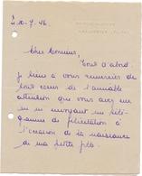 Brief Lettre - H. Story - La Maison Blanche - Mariakerke Bij Gent - 1946 - Oude Documenten