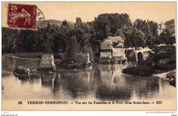 VERNON-VERNONNET. Vue Sur Les Tourelles Et Le Petit Bras Saint-Jean. - Vernon