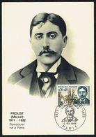 """Y/T N° 1472 S/ CM - Célébrité: Marcel PROUST - Oblit. """"PREMIER JOUR - PARIS - 12 FEV. 1966"""". - Cartes-Maximum"""