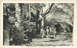 Nouvelle Calédonie - Iles Loyauté (Loyalty) Maré - Cueillette Du Café, Enfants Kanak - Carte N° 202 Non Circulée - Nuova Caledonia