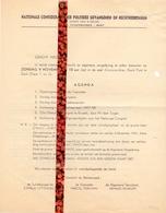Brief Lettre - Confederatie Politieke Gevangenen Gent Eeklo - Uitnodiging Vergadering - Oude Documenten