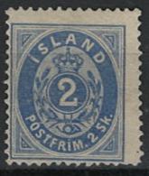 Iceland Island 1873. Mi 1A, Unused Without Gum (*) - Neufs