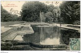 VERNON Parc De Bizy La Pièce Et Le Jet D'eau  Carte écrite En 1907 - Vernon