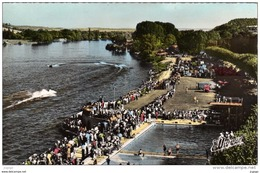 VERNON. La Piscine Au Bord De La Seine - Course De Hors-bords  Carte Photo 2 Scans - Vernon