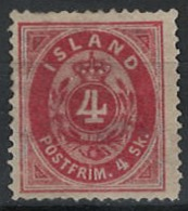 Iceland Island 1873. Mi 3A, Unused Without Gum (*) - Neufs