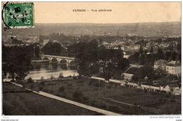VERNON Vue Générale Carte écrite En1909 - Vernon