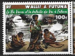 WALLIS ET FUTUNA, 2019, MNH, KING VANAI AND THE BATTLE, WARRIORS, 1v - Costumi