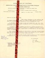 Brief Lettre - Honneur Et Patrie - Anciens Combattants & Militaires Françaises , Fl. Orientale Gand Gent - 1946 - Oude Documenten