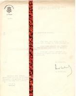 Brief Lettre - Handtekening Autographe Ministre Minister  H. Liebaert - Bruxelles à Gand Gent 1946 - - Oude Documenten