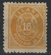 Iceland Island 1873. Mi 5B MH - Neufs