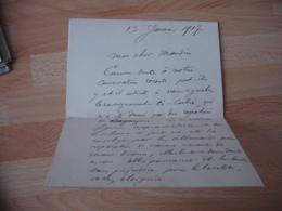 Guerre 14.18dpt 54  Courrier Manuscrit Adresse A L Aviation Pour Renseignement Sur Usine Travaillant Pour Allemands - Uniformi