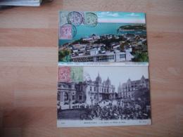 Monaco  Lot 4 Lettre Affranchissement Multiple Lot 1901 A 1910 - Marcophilie