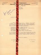 Brief Lettre - Uitnodiging Viering 25° Verjaardag Nationale Strijdersbond - Lokaal Oude Congo Steendam Gent - Oude Documenten