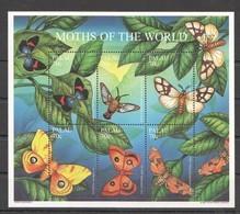 PK297 PALAU INSECT BUTTERFLIES MOTHS OF THE WORLD 1KB MNH - Schmetterlinge