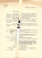 Brief Lettre - Politie Stad Gent - Inhuldiging Gedenksteen Gevallenen  - Programma Gent 1946 - Oude Documenten
