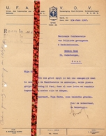 Brief Lettre - Gent - UFAC - VOV - Vereniging Oud Strijders 1940 - 1945 - Brief 1947 - Oude Documenten