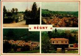 42-REGNY....4 VUES DONT LA GARE....CPM - Andere Gemeenten