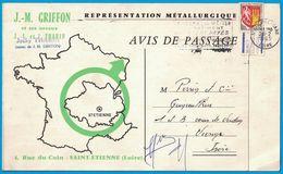 J. M. GRIFFONS & SES NEUVEUX J. L. ET J. TARIN JACY TARIN REPRESENTATION METALLURGIQUE 4 RUE DU COIN SAINT ETIENNE LOIRE - Publicités