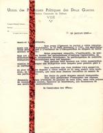 Brief Lettre - Union Des Prisonniers Politiques Des Deux Guerres - Visé 1946 - Oude Documenten