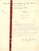 Brief Lettre - Union Des Prisonniers Politiques Des Deux Guerres - Liège 1946 - Oude Documenten