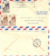 VOYAGE PRESIDENTIEL EN AFRIQUE A BORD DU BATIMENT DE LIGNE RICHELIEU Pli B.A. De OUAKAM SENEGAL Pour B.P.M. 517 - Poststempel (Briefe)