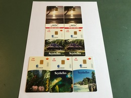 Seychelles - 7 Different Phonecards With Chip - Seychellen