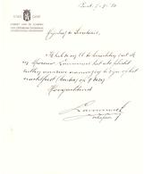 Brief Lettre - Stad Gent - Kabinet Schepen Van Onderwijs - 1950 - Oude Documenten