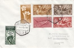 Espagne - Ifni - Lettre De 1968 - Fleurs - Oiseaux - Poissons - Armoiries - - Ifni
