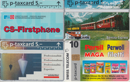 SWITZERLAND - PHONE CARD - SUISSE  *** 4 X DIVERS 2 *** - Suisse