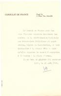 Brief Lettre - Stad Gent - Consulat De France  - 1950 - Oude Documenten