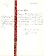 Brief Lettre - Opera Zanger John Vissers - Gent 1950 - Oude Documenten