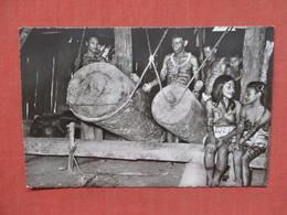 RPPC Rio Ampayaco Peru Boro Indians Beating Their Drums Tattoo Girls  Ref 3767 - Peru