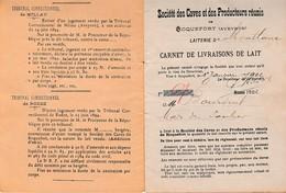 1902 - MONTLAUR (12) CARNET De LIVRAISONS De LAIT DE BREBIS Pour Les CAVES De ROQUEFORT - Documentos Históricos